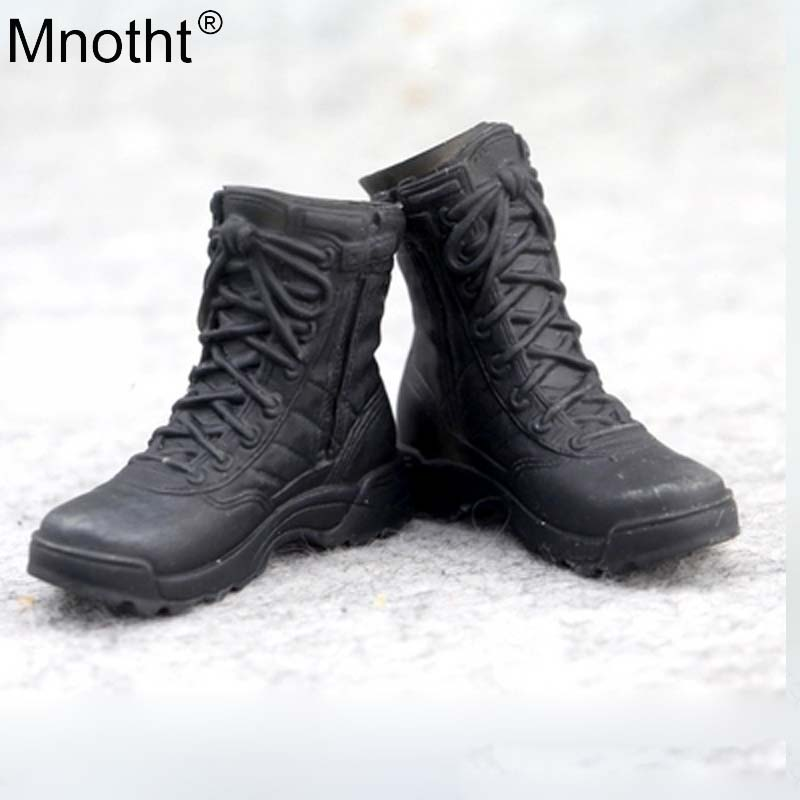 1//6 Soldier accessories Military Combat Boots Shoes Model Black fit 12/'/' figure