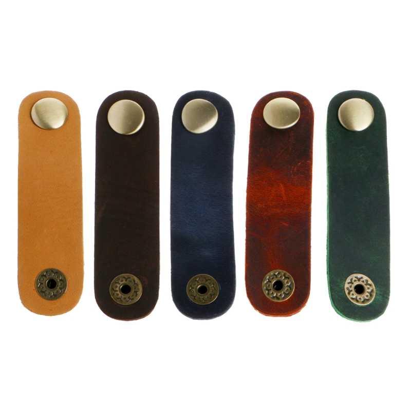 Kunstleer Kabel Cord Organizer Clip Wrap Spoel Oortelefoon Draad Winder Tool