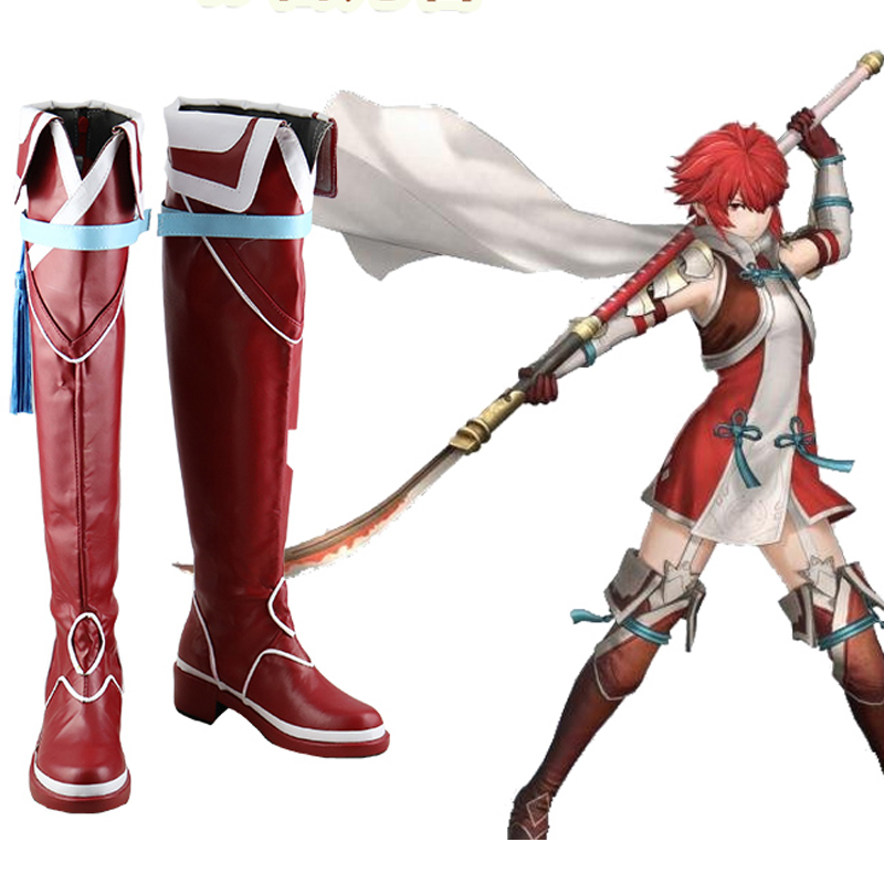Fire Emblem Fates IF Hinoka Cosplay Shoes Boots Halloween Carnival Cosplay Costume Accessories