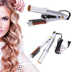 Аксессуары для укладки волос Профессиональный утюжок для выпрямления волос плойка Стиль 2 в 1 выпрямитель для волос Стильный инструмент