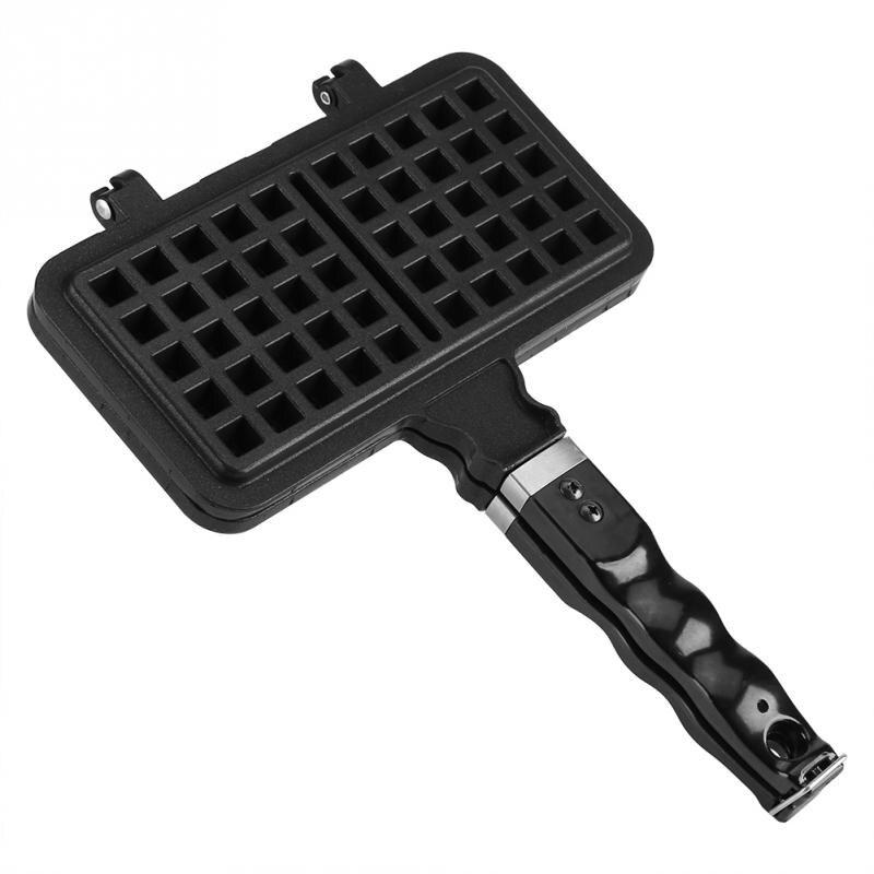 1Pc Rectangle Shape Non stick Waffle Mold Baking Pan Making Tool Maker Press Plate Pan KitchenWaffle Makers   -