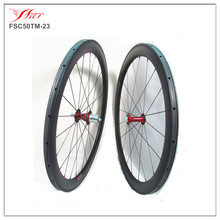 Far Sports light weight Chris King hubs wheels 700C 50mm x 23mm tubular rims for road bike , Pro wheels builder and engineers