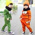 Animal Baby Kids Girls Boys Smile Face Sweatshirt 2 pcs Tops + Pants Outfits Set Costume