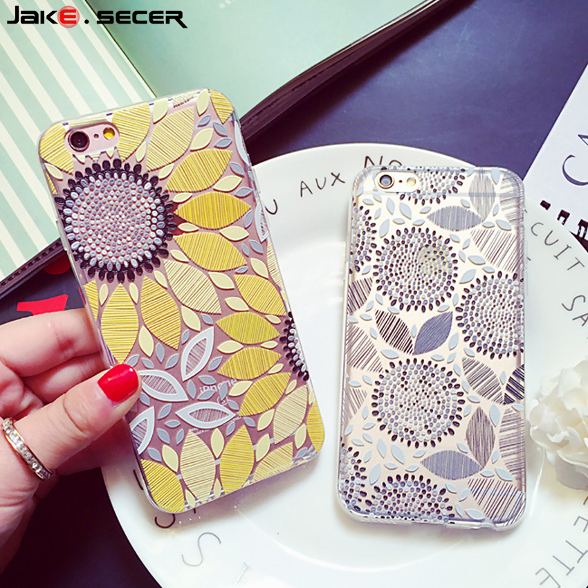 Cover For iPhone 6 s 6s Case Accessories Silicone Coque 3D Pretty Floral Girly Covers for iPhone 6s 5s SE 5 6 s Case 4.7