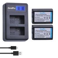 2 шт. для sony NP-FW50 NP FW50 FW50 Батарея + ЖК-дисплей Зарядное устройство для sony A6000 NEX-7 NEX 5N F3 NEX-3D NEX-3DW NEX-3K NEX-5C Alpha 7R II