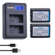2pc For Sony NP-FW50 NP FW50 FW50 Battery + LCD Charger For Sony A6000 NEX-7 NEX 5N F3 NEX-3D NEX-3DW NEX-3K NEX-5C Alpha 7R II