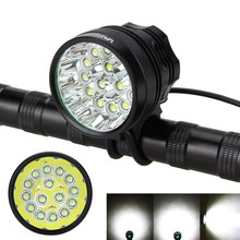 Front Handlebar Bicycle Light Super Bright 50000Lm 15x XM-L T6 Rechargeable Waterproof Powerful LED Bike Lamp Headlight