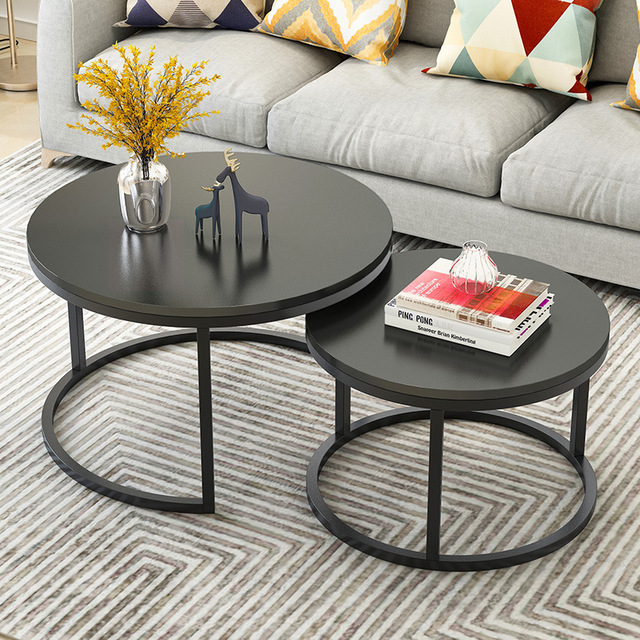 Living Room 2 in 1 Coffee Tables wooden combination furniture Two-tone Tea table adjustable strong sturdy Storage table 1
