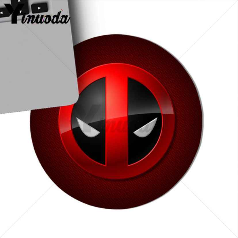 Yinuoda Marvel Comics logo Anda Sendiri Tikar Mousemats Mousepads alas Mouse gaming gamer mousepad Karet Persegi Panjang bulat