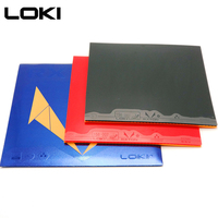 LOKI RXTON5 High Elasticity Sticky Table Tennis Rubber Red Pips In High density Hard Sponge Pingpong Rubber for Attack/Loop