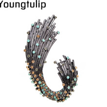 Young Tulip Shiny Charming Plant Colorful Lady Brooches Differentiate Noble Fashionable Jewelry Garment Accessories For Party noble 2 minute charming smile trainer