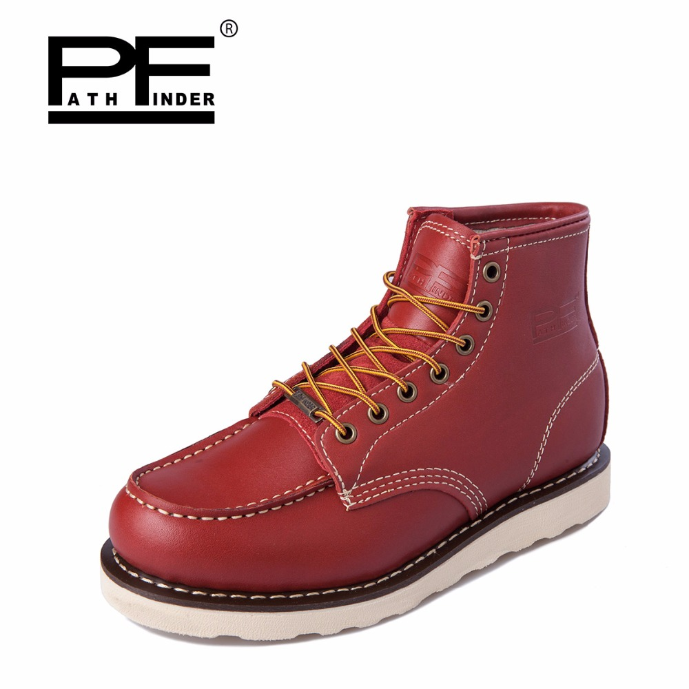 Pathfind winter women casual Leather Boots Motorcycle Martin army ladies Tooling military Work Safety Desert Shoes Western Botas pathfind luxury brand leather ankle snow boots europe style motorcycle martin tooling military boots men outdoor casual shoes