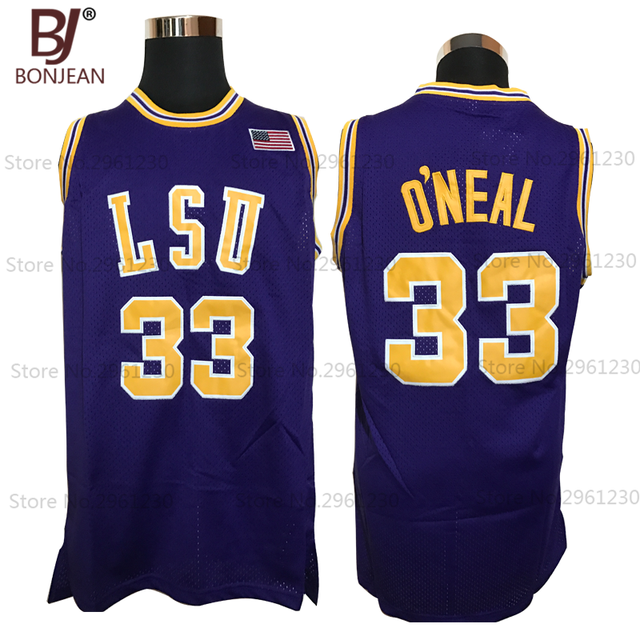 2f0a805d1 Cheap 33  Shaq O NEAL COLE High School Basketball Jersey Shaquille Oneal  Stitched Throwback
