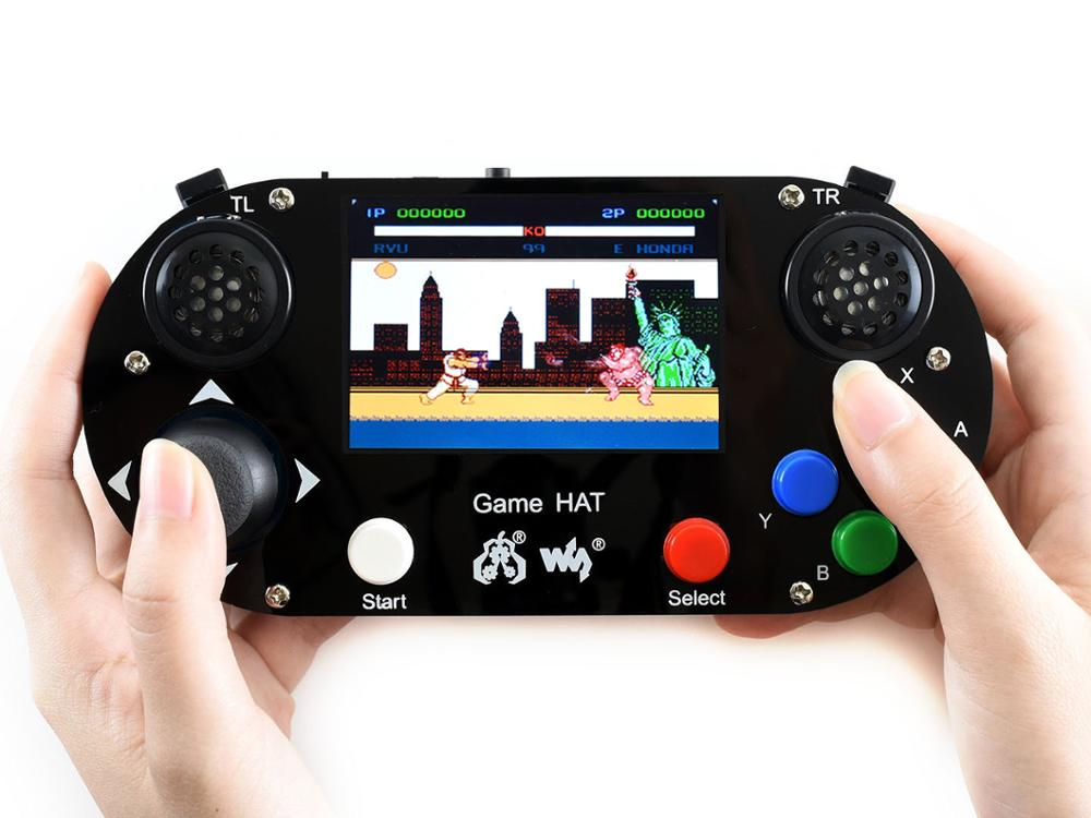 Waveshare Video Game Console for Raspberry Pi 3 5inch 480 320 IPS screen Acrylic material Supports