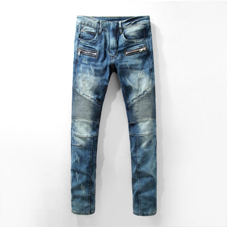 ФОТО 2017 New Jean Male Big Size 29-40 Straight Slim Skinny Jeans Men Clothing  Men Pants