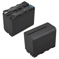 1Pcs 7 2V 7800mAh NP F970 NP F960 Digital Camera Battery For Sony NP F960 NP