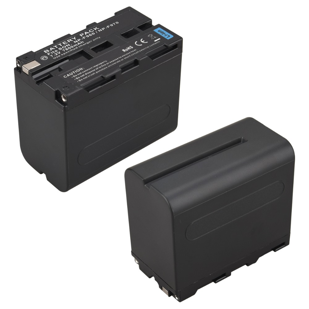1Pcs 7.2V 7800mAh NP-F970 NP-F960 Digital Camera Battery for Sony NP-F960 NP-F970 Battery NP F970 NP F960 Batteria Bateria