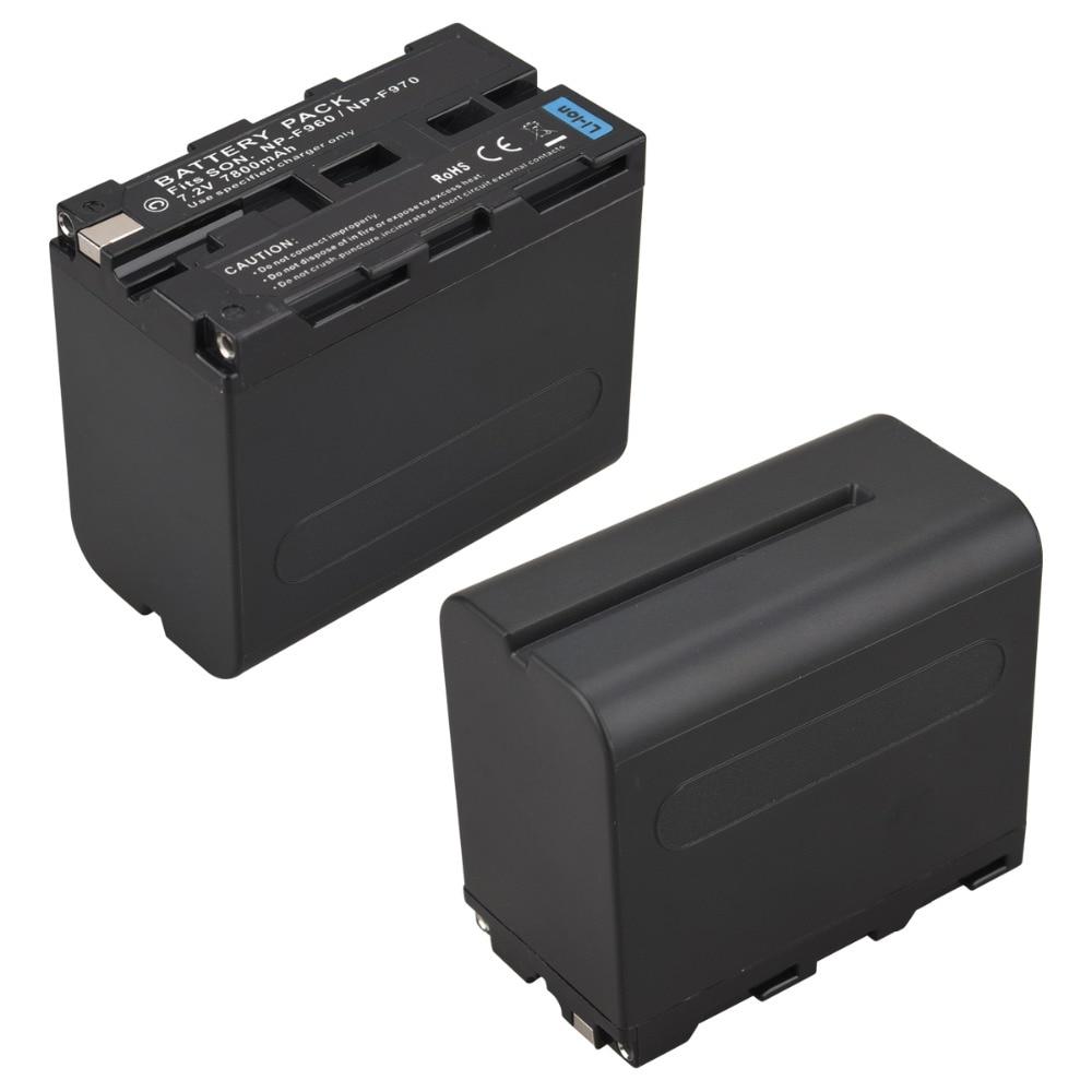 1Pcs 7.2V 7800mAh NP-F970 NP-F960 Digital Camera Battery for Sony NP F970 F960 Batteria Bateria