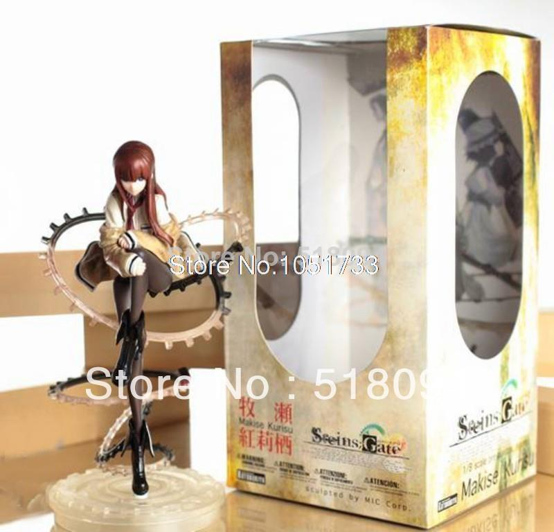 Free Shipping Cool 9 Steins Gate Makise Kurisu 1/8 Scale PVC Action Figure Collection Model Toy Christmas Gifts SGFG086
