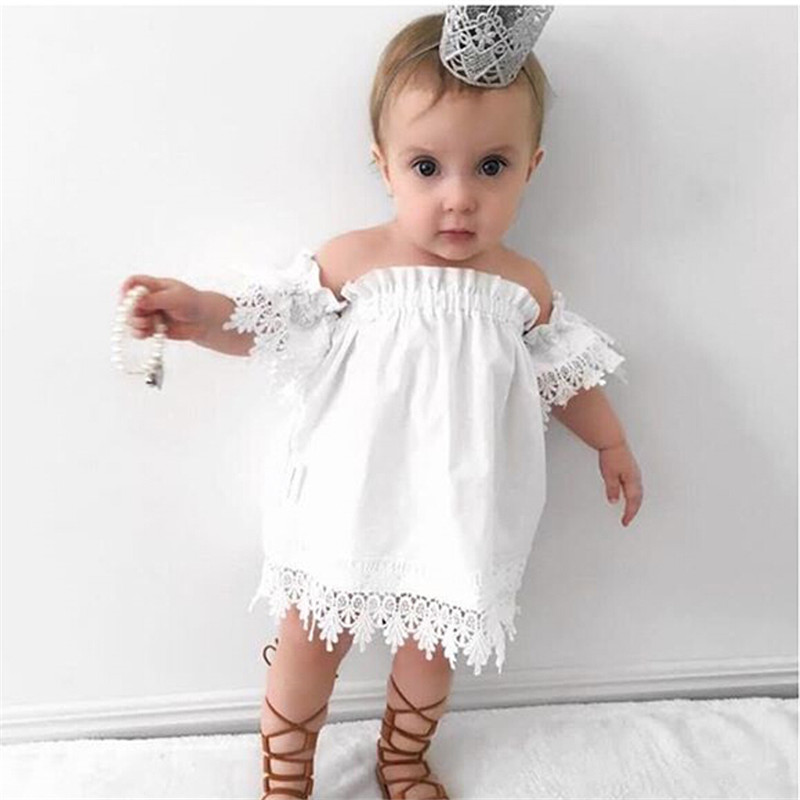 Trendy Baby Gifts 2018 : Newest summer cute lace baby girls dress korean style