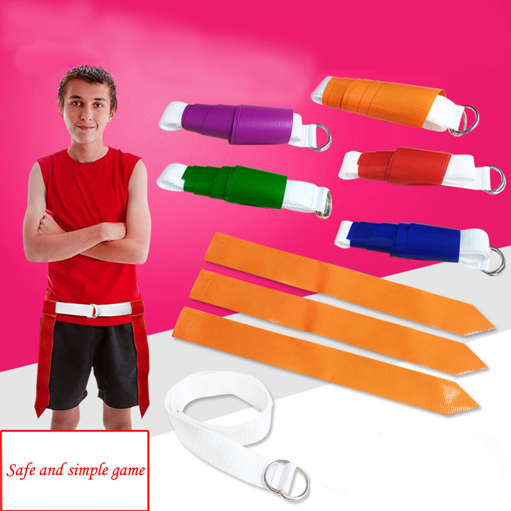 Flag Football Belt Kit for Players -Multicolor Flags for Team Logo -Adults&Kids Fair