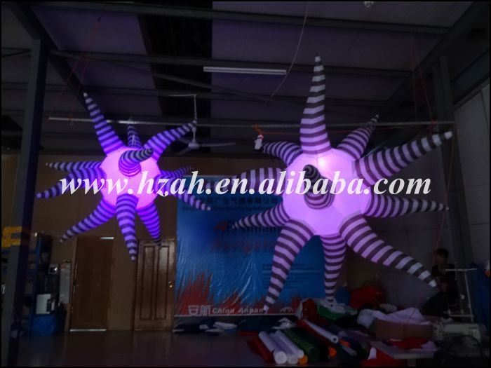 Hot Sale Hanging Decorations Inflatable Star /Inflatable 3D Light Star hot sale fashion hot sale coconut palm iron wall hanging basket