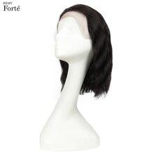 Remy Forte koronki przodu peruki z ludzkich włosów krótka fala wody peruki z ludzkich włosów 100% Remy peruwiański włosy peruki 13x4 koronkowe peruki dla kobiet