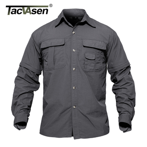 Image 2 - TACVASEN גברים של בגדים צבאיים קל צבא חולצה מהיר יבש טקטי חולצה קיץ נשלף ארוך שרוול עבודה האנט חולצות