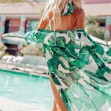 Ashgaily, сексуальный пляжный чехол, с принтом, бикини, накидка, для пляжа, для женщин, пляжная одежда, женский купальник, накидка, платье, купальник, Пляжная туника