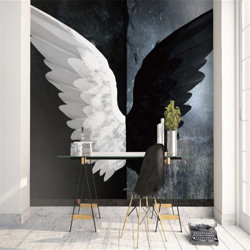Modern Black White Wallpapers for Walls 3D Custom Photo Wallpapers Home Decor Living Room Abstract Murals Wall Papers Bedroom metalowe skrzydła dekoracyjne na ścianę