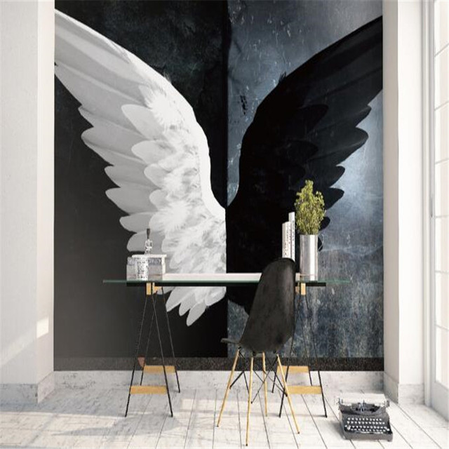 Modern Black White Wallpapers For Walls Custom Photo Home Decor Living Room Abstract Murals