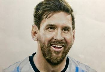 Football star messi Hand Painted on canvas celebrity Portrait Figure Oil Painting  Canvas Art Oil Paintings Decorative