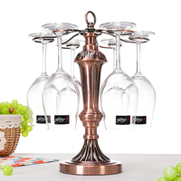 Household Bronze Living Room Wine Cup Rack Suspension Iron Red Wine Upside Down Hanging Cup Creative Ornaments