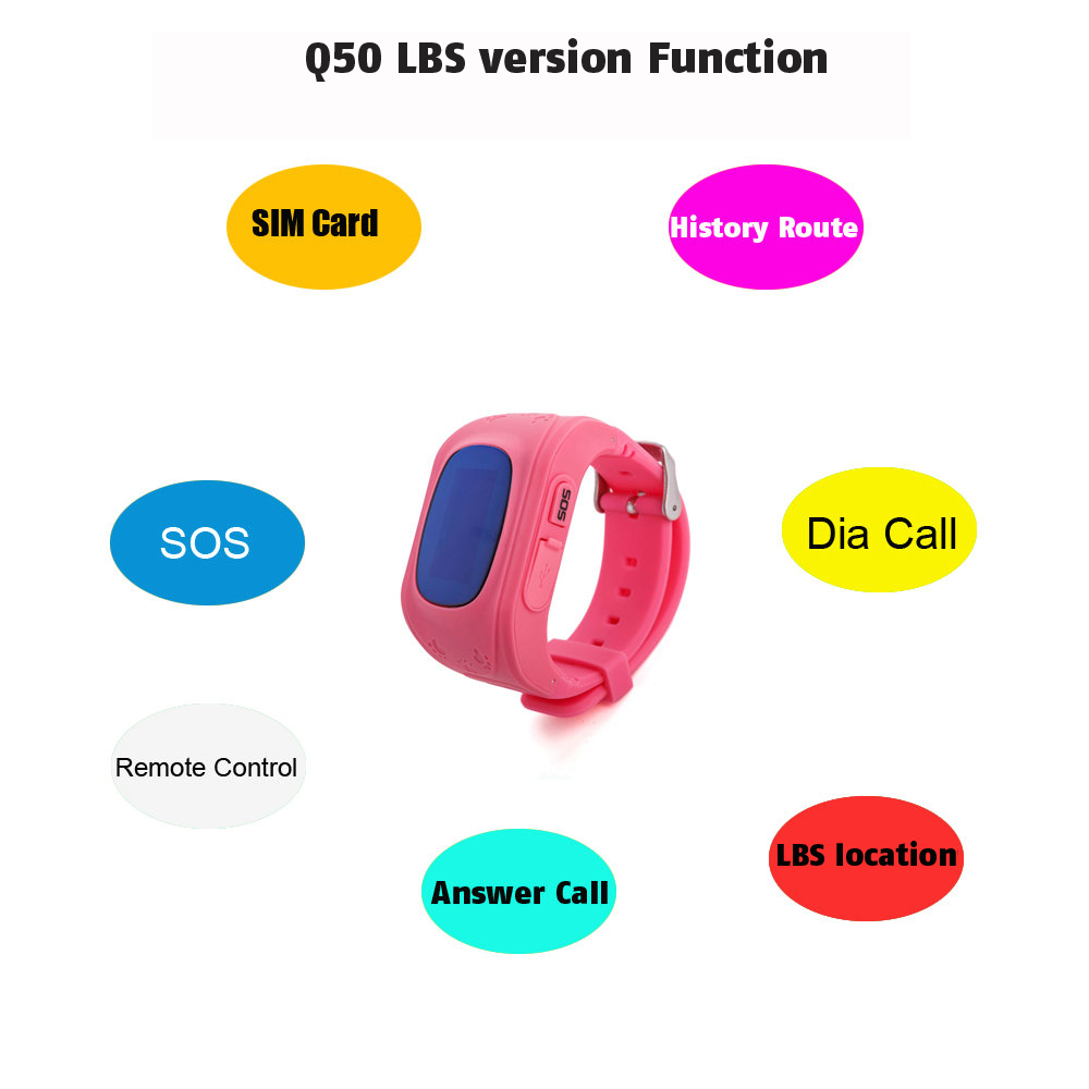 Q50 OLED Child GPS Tracker SOS Smart Monitoring Positioning Phone Kids GPS 001