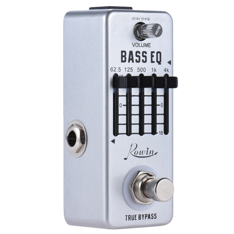 Rowin Lef-317B Bass Eq Equalizer Guitar Effect Pedal 5-Band Aluminum Alloy Body True Bypass