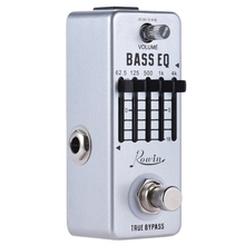 Rowin Lef-317B Bass Eq Equalizer Guitar Effect Pedal 5-Band Pedal Aluminum Alloy Body True Bypass tomsline aeb 1 bass 5 band eq premium analogue effect true bypass aroma