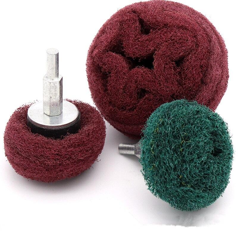 ZtDpLsd 1Pcs 6mm Shank Scouring Pad Grinding Head Dremel Accessorie Nylon Fiber Polishing Wheel Grinder Brushes Tool