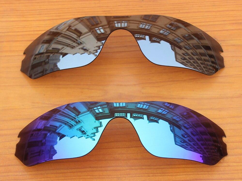 2c095d28455f9 Chrome Silver   Ice Blue 2 Peças Espelho Polarizado óculos de Substituição  lentes Para Borda Radar Óculos De Sol Quadro 100% UVA   UVB proteção em ...