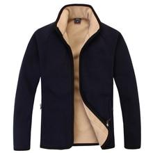 Outdoor high quality thicken fleece jacket man autumn/winter thicken polar fleece linner thermal coats cashmere cardigan M-3XL