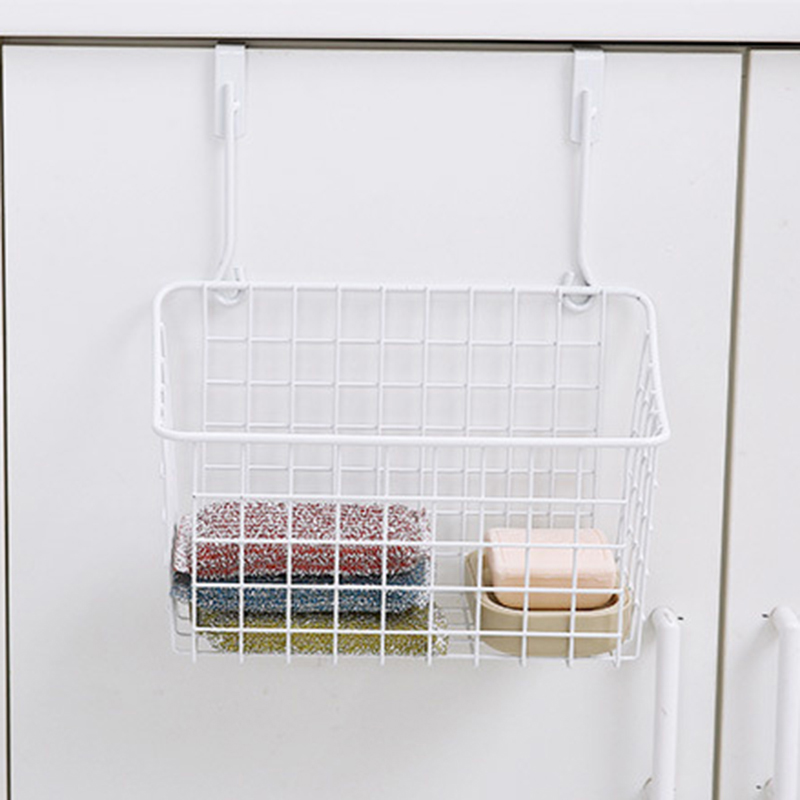 New Practical Metal Over Door Storage Basket Kitchen Cabinet Drawer Organizer Door Hanger Storage Basket Rack #237831-in Storage Holders u0026 Racks from Home ... & New Practical Metal Over Door Storage Basket Kitchen Cabinet Drawer ...