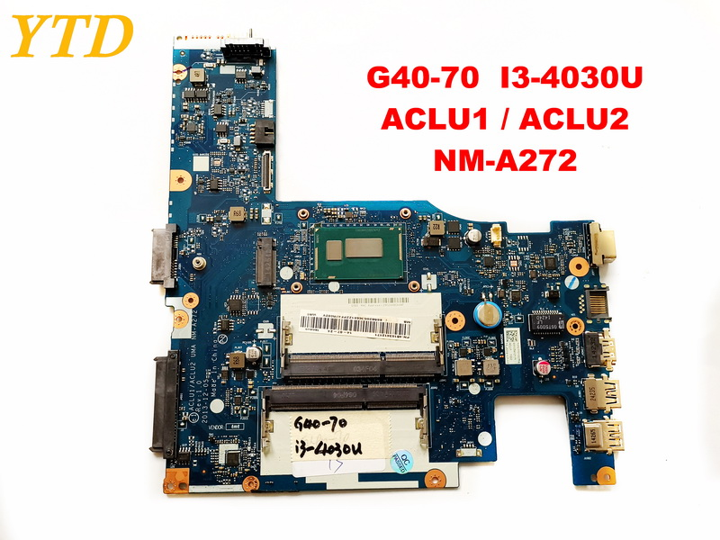 Original for lenovo G40-70  laptop motherboard  G40-70  I3-4030U  ACLU1  ACLU2  NM-A272  tested good free shippingOriginal for lenovo G40-70  laptop motherboard  G40-70  I3-4030U  ACLU1  ACLU2  NM-A272  tested good free shipping