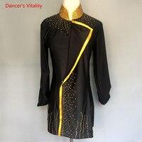 Мальчика латинского танца рубашка конкурсной Костюмы Для мужчин танцевальная бальных танцев Костюмы взрослый ребенок Танцы Топы