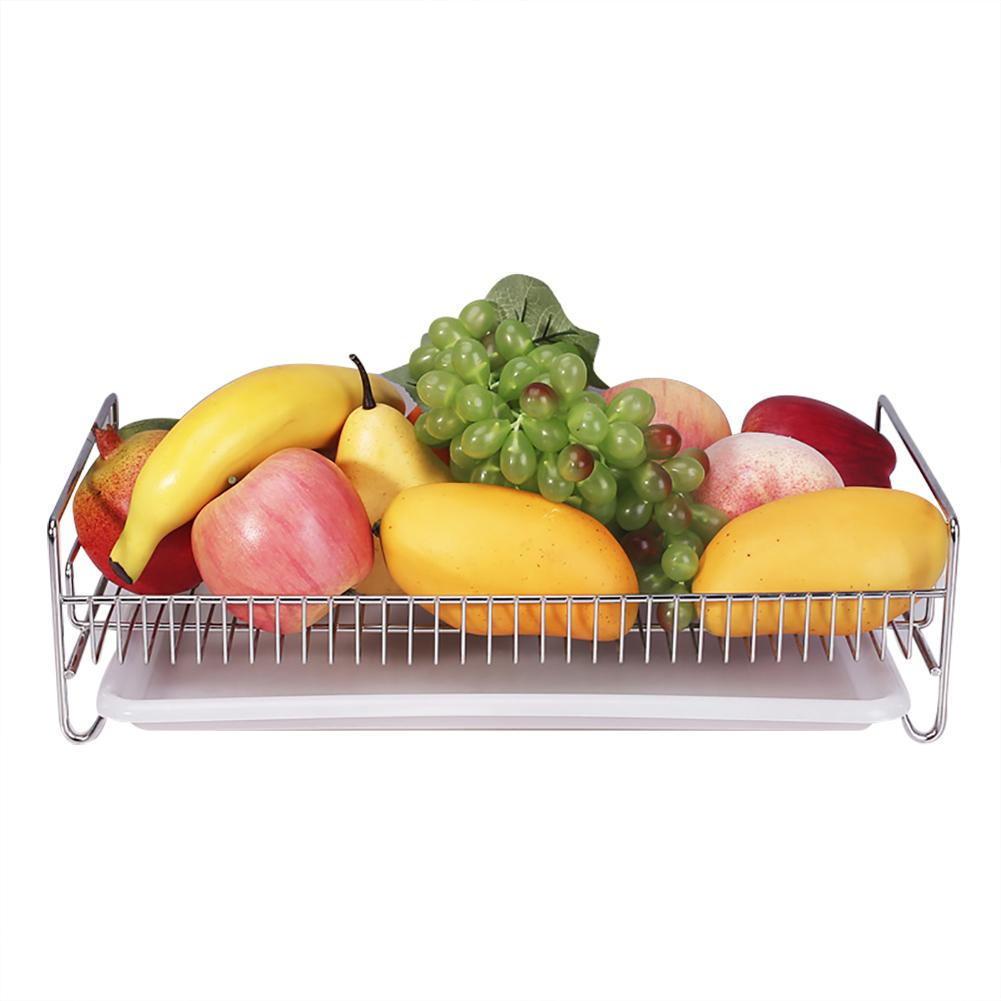 Stainless Steel Drain Rack Cup Kitchen Drying Rack Sink Storage Dish Holder Fruit Vegetable Drainer Home Kitchen Accessory