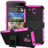For HTC Desire 326 526 526G Dual Sim Case 326G 526G+ Heavy Armor Shockproof Rubber Stand Fundas Case sFor HTC 526G+ Cover Cases