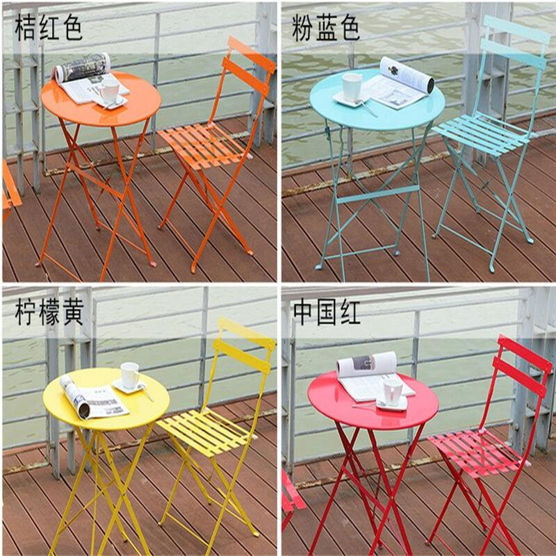 Roundness style Outdoor leisure Folding Garden Chairs Balcony tables and chairs Coffee table