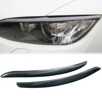 UHK3 Series E92 E93 320i 325i 330i 335i Carbon Fiber Head Light Eyebrow For BMW 1 Pair Eyelids Decoration Stickers Eyebrow