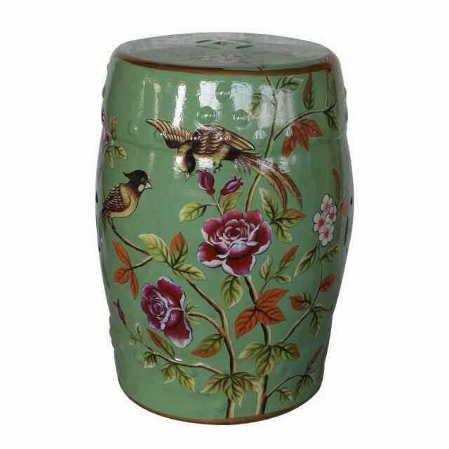 Chinese Jindezhen Dressing Table Ceramic Garden Stool Chinese Ceramic Drum  Stool Bathroom Chinese Antique Garden Drum