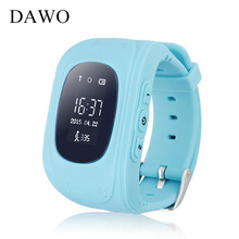 DAWO Children Smart Watch Kid Safe SOS Call Location Finder Locator Tracker Anti-Lost Baby Son Wristwatch for iOS Android