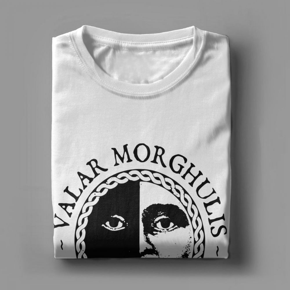 Valar Morghulis Valar Dohaeris T Shirts for Men Game Of Thrones Hipster Short Sleeve Tops Plus Size Tees 100 Cotton T Shirt in T Shirts from Men 39 s Clothing