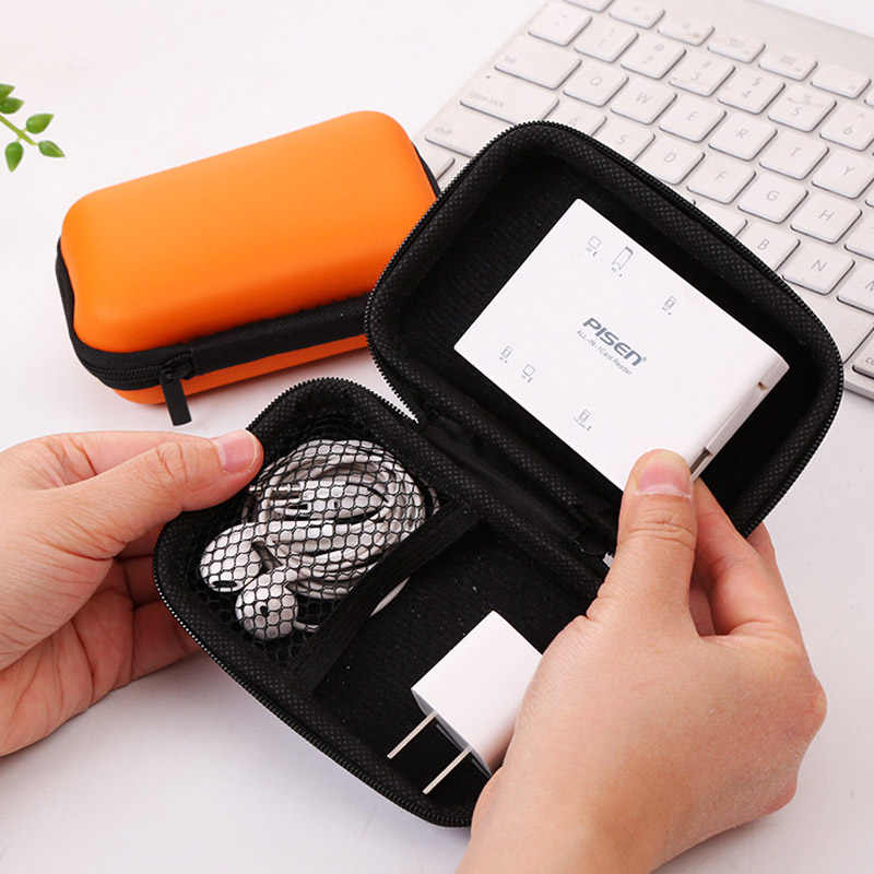 Earphone Bag Key Coin Bags Headphones Cable Earbuds Holder Box Waterproof Storage Hard Case Travel SD Card